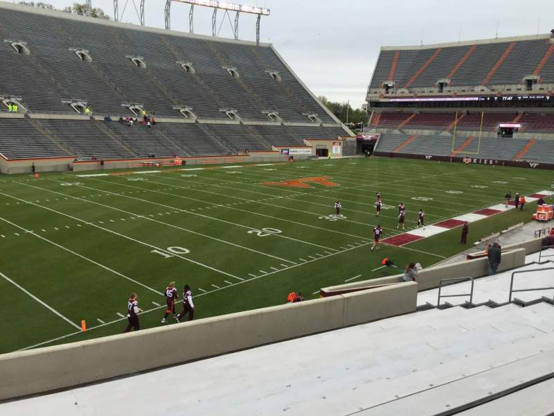 Seating view for Lane Stadium Section 2 Row BB Seat 12