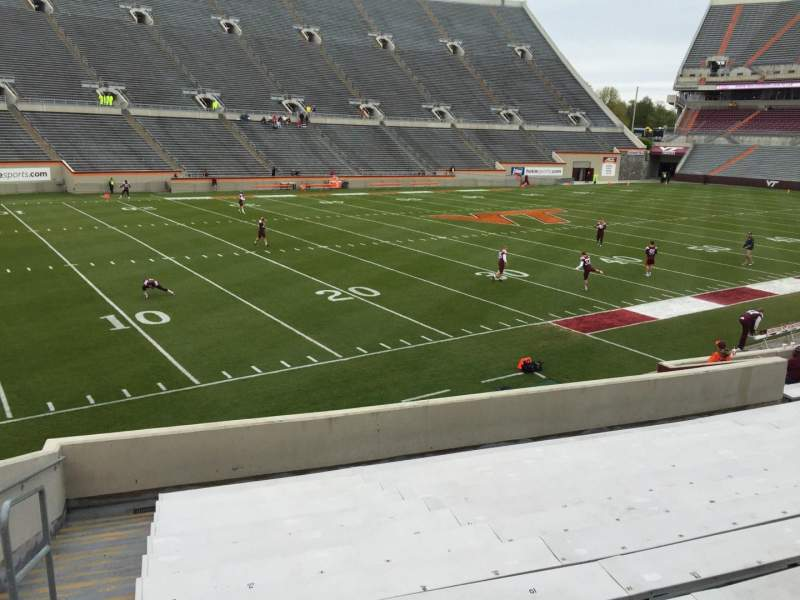 Seating view for Lane Stadium Section 4 Row V Seat 2