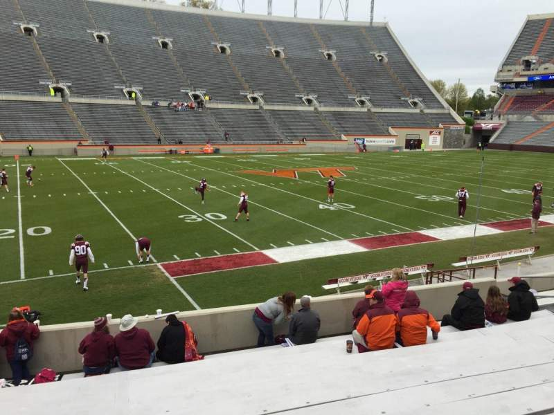 Seating view for Lane Stadium Section 6 Row Q Seat 14