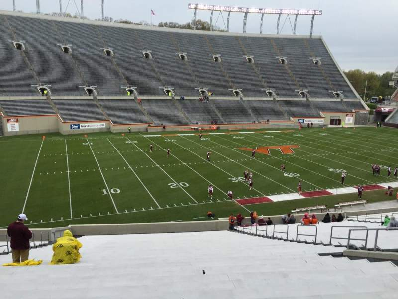 Seating view for Lane Stadium Section 204 Row VV Seat 26
