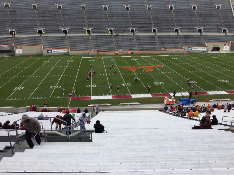 Seating view for Lane Stadium Section 8 Row CCC Seat 14