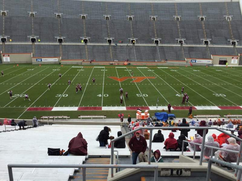 Seating view for Lane Stadium Section 10 Row TT Seat 3
