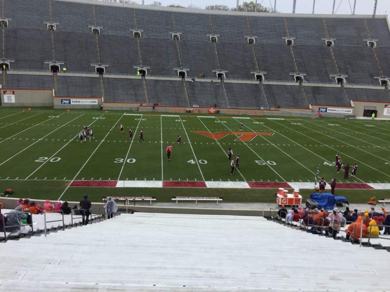 Seating view for Lane Stadium Section 8 Row MM Seat 16