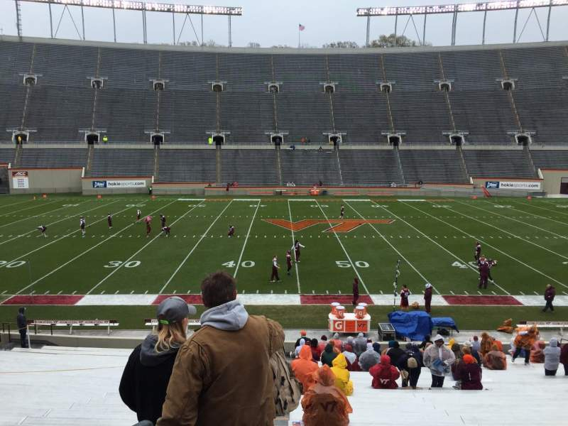 Seating view for Lane Stadium Section 10 Row EE Seat 2