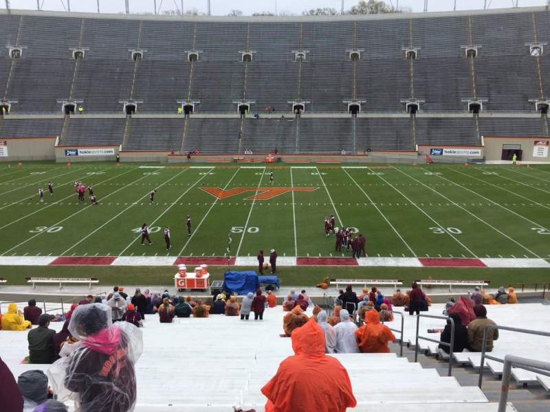 Seating view for Lane Stadium Section 12 Row MM Seat 3