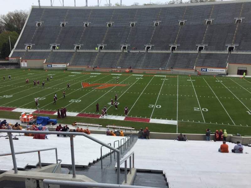 Seating view for Lane Stadium Section 14 Row SS Seat 6