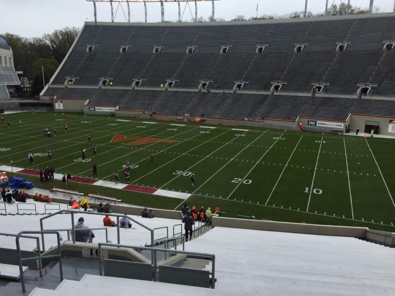 Seating view for Lane Stadium Section 16 Row XX Seat 14