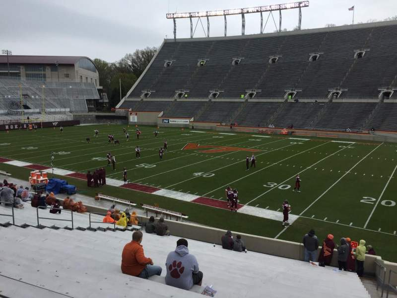 Seating view for Lane Stadium Section 16 Row CC Seat 5