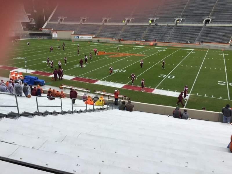 Lane Stadium, section: 14, row: CC, seat: 24