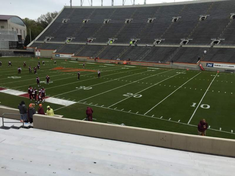 Seating view for Lane Stadium Section 18 Row W Seat 17