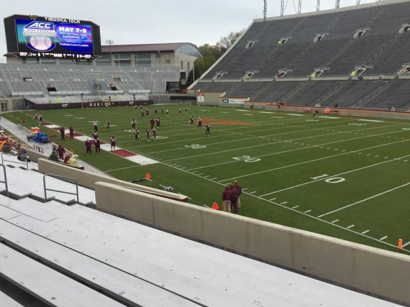 Seating view for Lane Stadium Section 20 Row X Seat 11