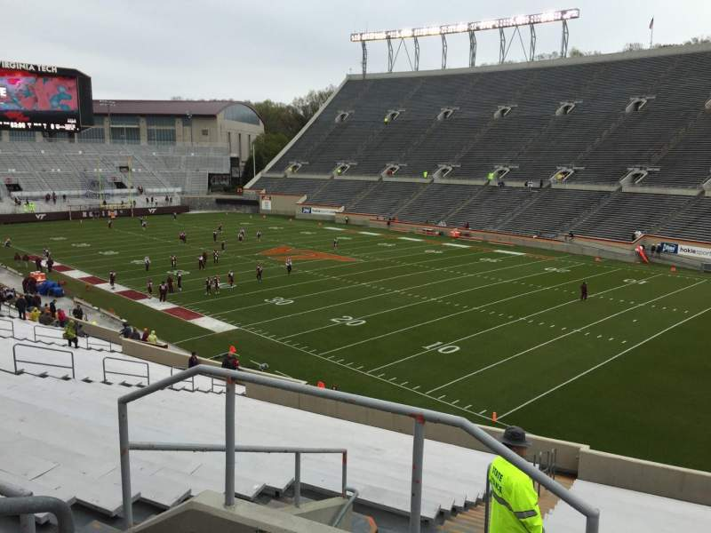 Seating view for Lane Stadium Section 20 Row Rr Seat 4