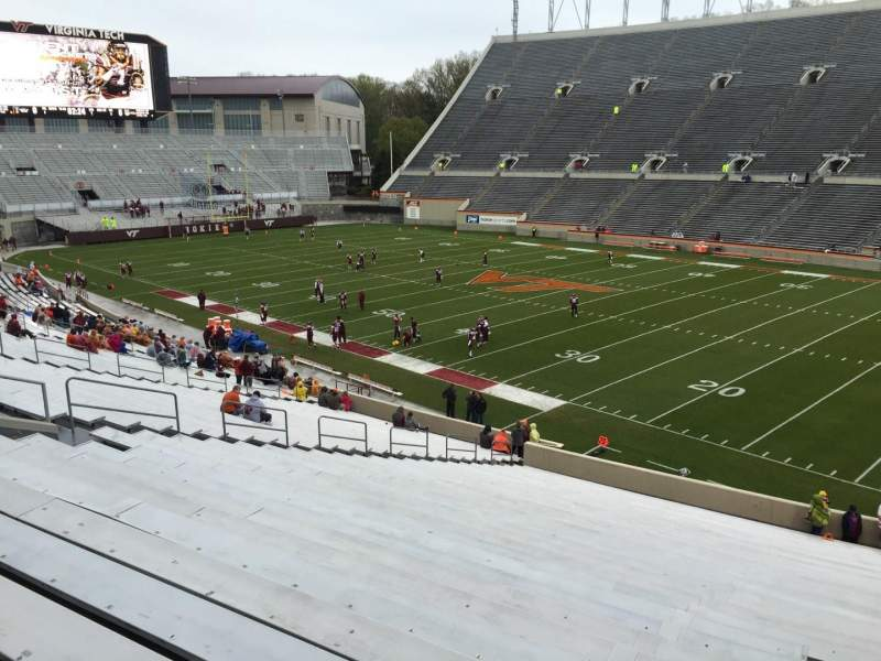 Seating view for Lane Stadium Section 18 Row RR Seat 7