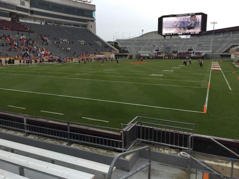 Seating view for Lane Stadium Section 101 Row F Seat 13