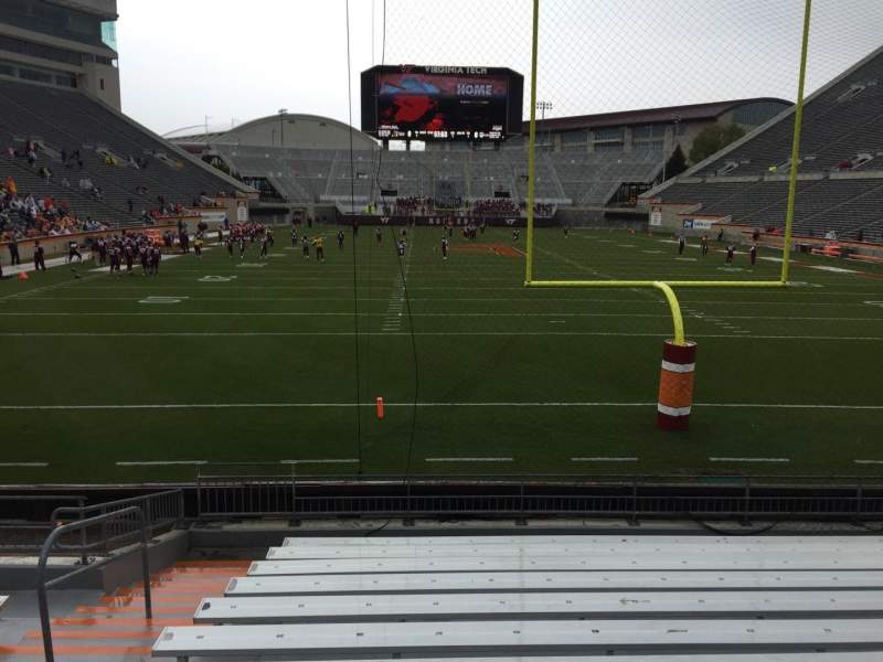 Seating view for Lane Stadium Section 103 Row M Seat 27