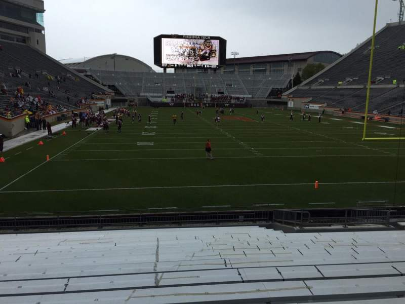 Seating view for Lane Stadium Section 104 Row R Seat 16