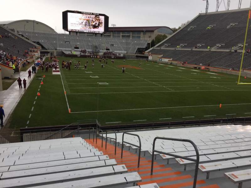 Seating view for Lane Stadium Section 105 Row U Seat 3
