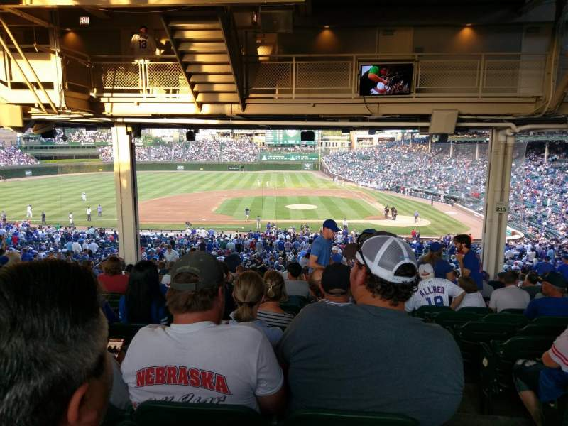Seating view for Wrigley Field Section 212 Row 22 Seat 29