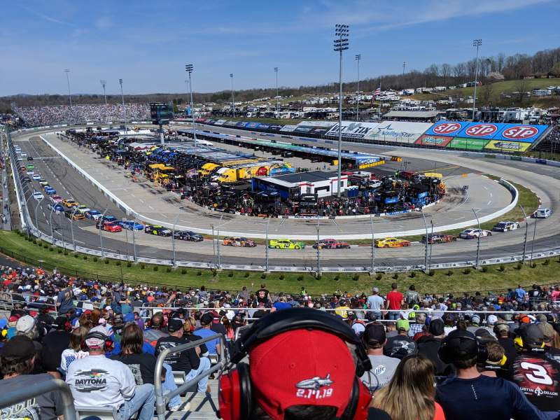Seating view for Martinsville Speedway Section EE Row 38 Seat 14