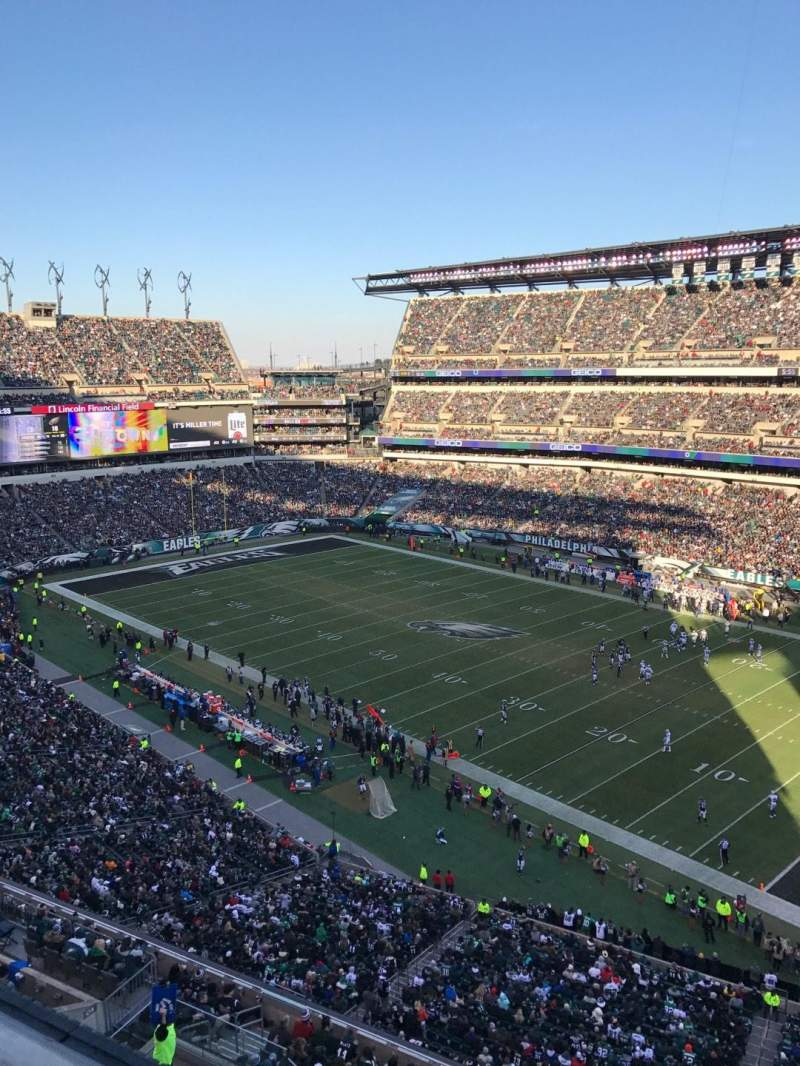 Seating view for Lincoln Financial Field Section 206 Row 1 Seat 15