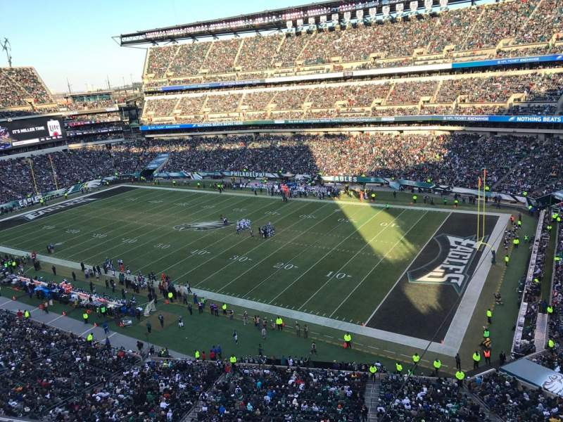 Seating view for Lincoln Financial Field Section 206 Row 1 Seat 16