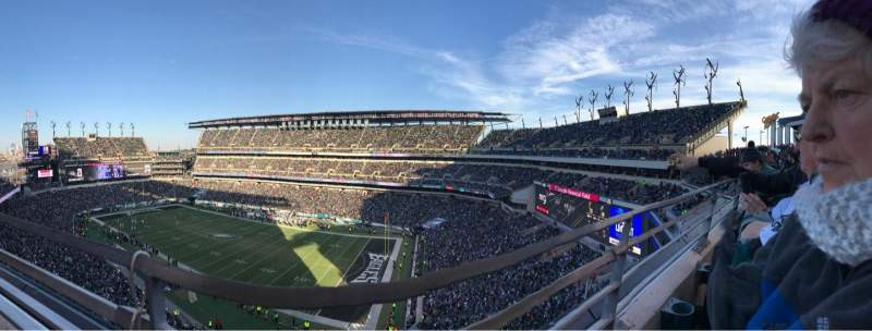 Seating view for Lincoln Financial Field Section 206 Row 1 Seat 14