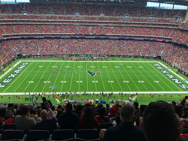 Seating view for NRG Stadium Section 609 Row L Seat 13