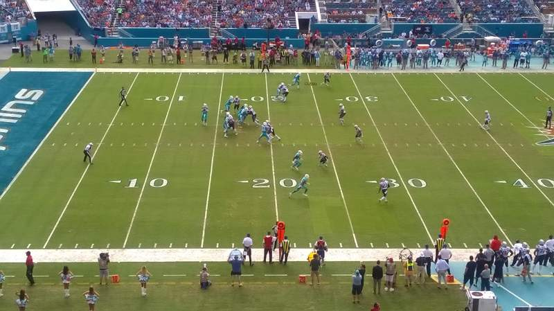 Seating view for Hard Rock Stadium Section 320 Row 1 Seat 24