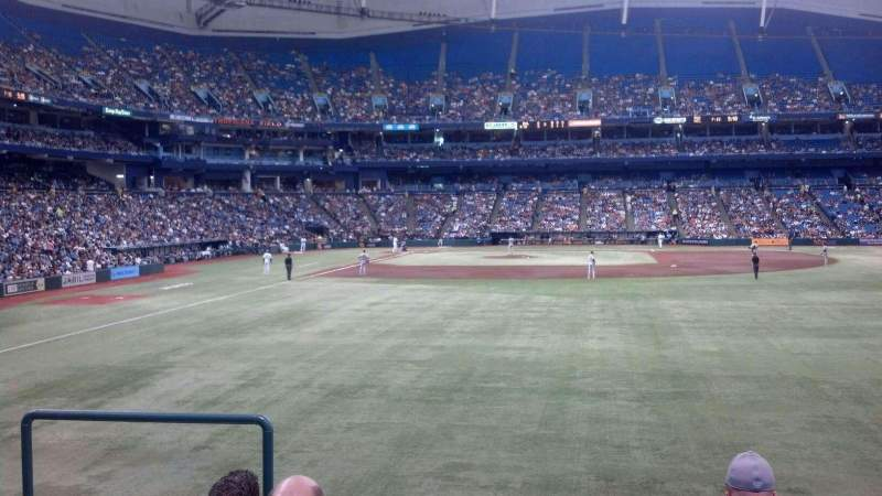 Seating view for Tropicana Field Section 142 Row Y Seat 1