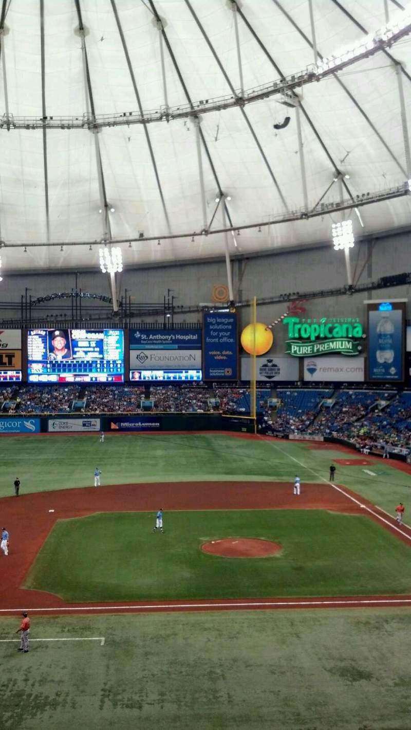 Seating view for Tropicana Field Section 209 Row A Seat 3