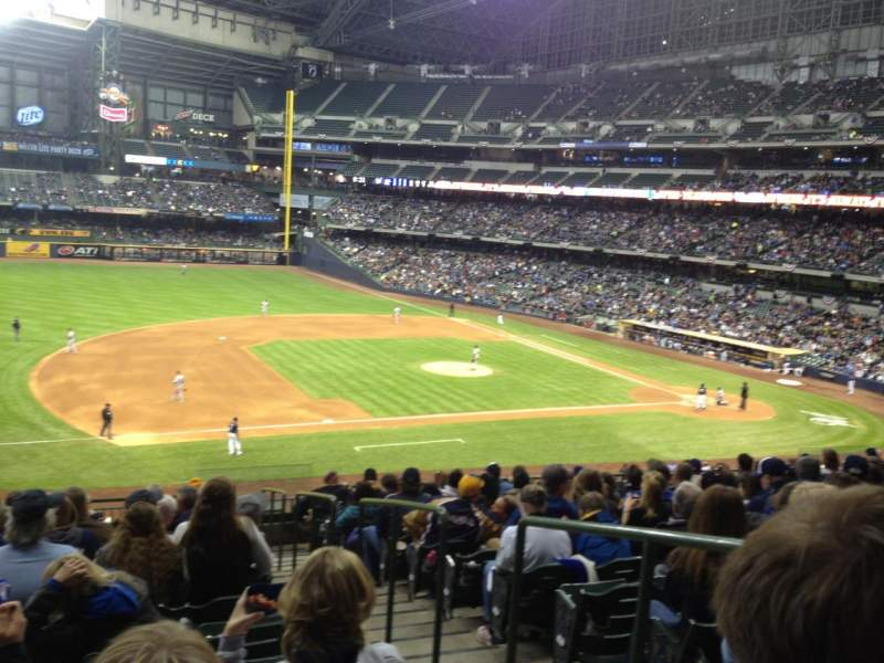Seating view for Miller Park Section 226 Row 14 Seat 2
