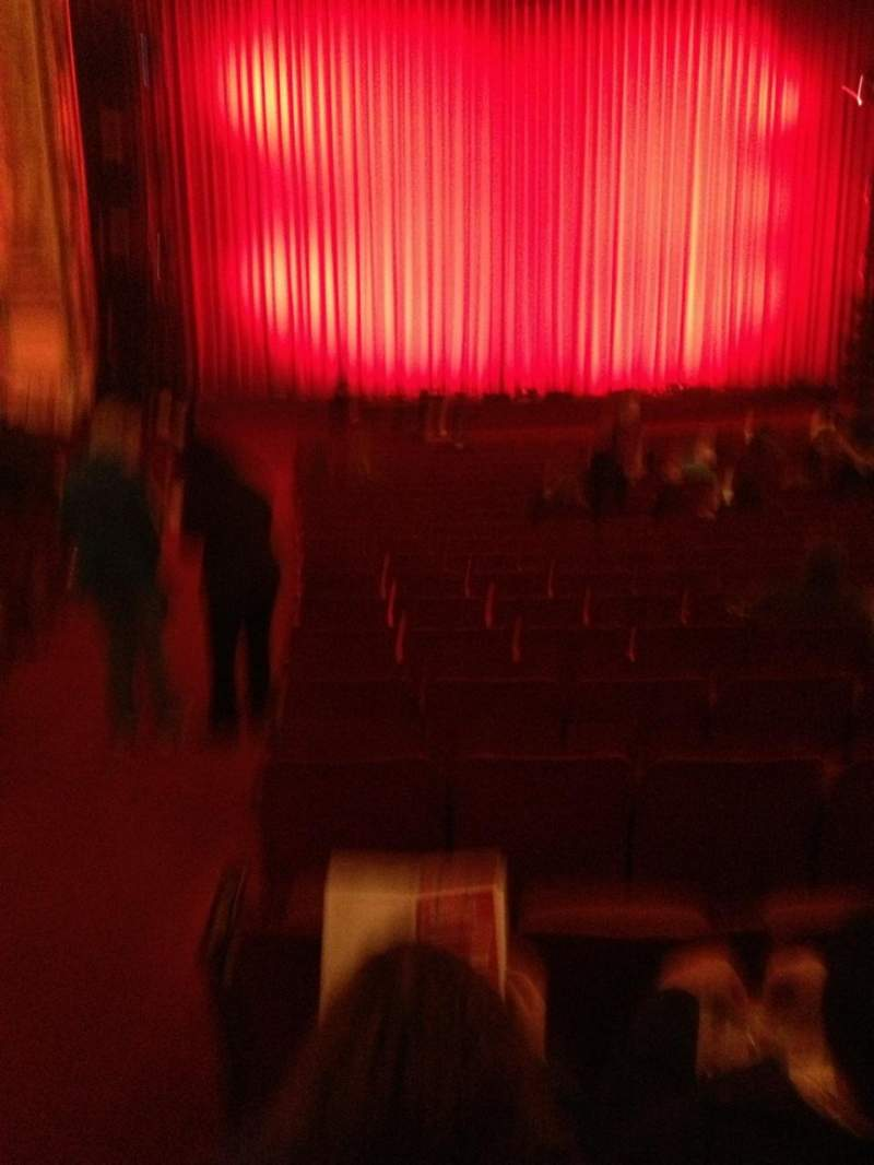 Seating view for Cadillac Palace Theater Section orchestra l Row V Seat 1