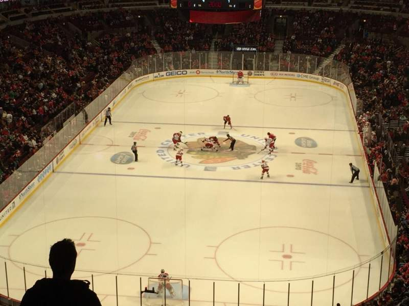 Seating view for United Center Section 308 Row 7 Seat 14