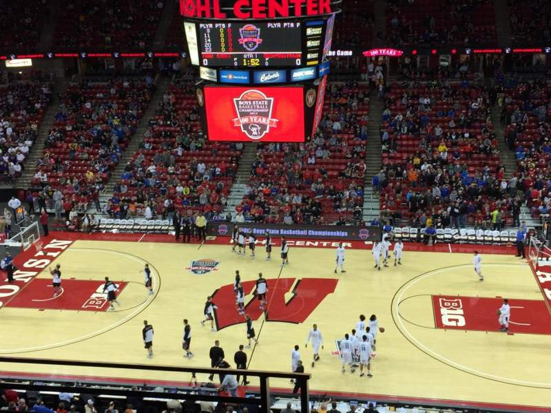 Seating view for Kohl Center Section 307 Row C Seat 18