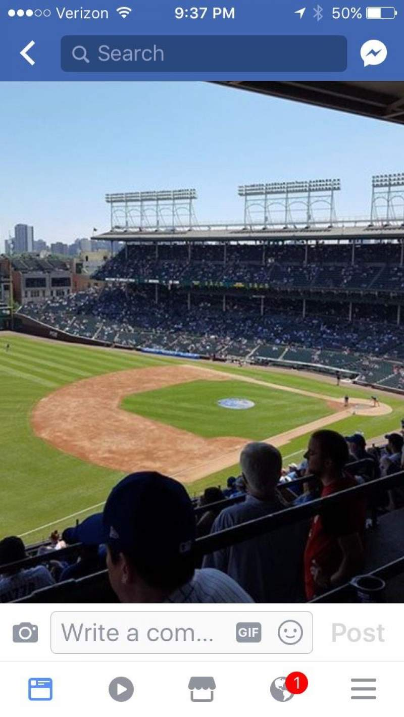 Seating view for Wrigley Field Section 407L Row 7 Seat 7