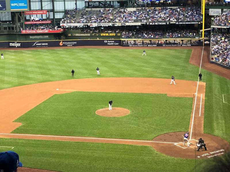Miller Park, section: 335, row: 4, seat: 5