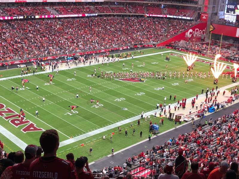 Seating view for State Farm Stadium Section 421 Row 13 Seat 8