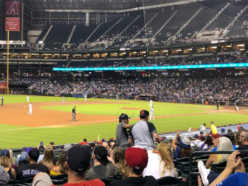 Seating view for Chase Field Section 131 Row 22 Seat 6