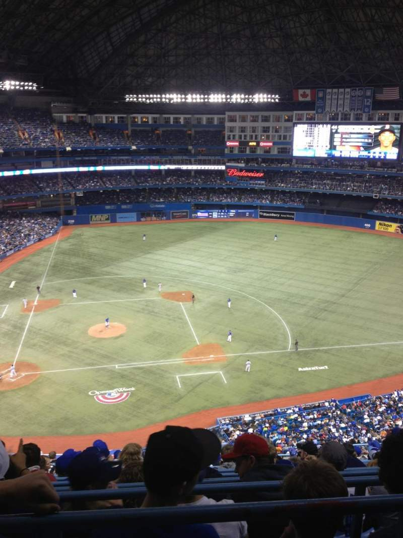 Seating view for Rogers Centre Section 520R Row 15 Seat 9