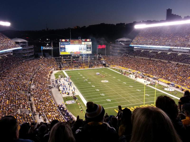 Seating view for Heinz Field Section 519 Row Q Seat 9