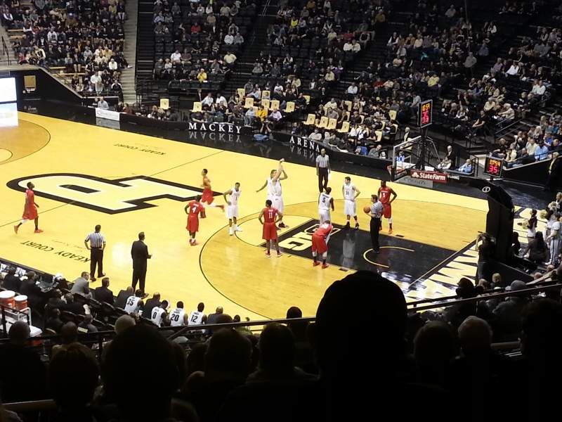Seating view for Mackey Arena Section 118 Row L Seat 12
