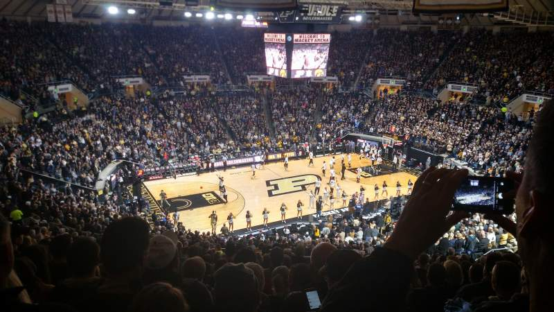 Seating view for Mackey Arena Section 112 Row 24 Seat 2