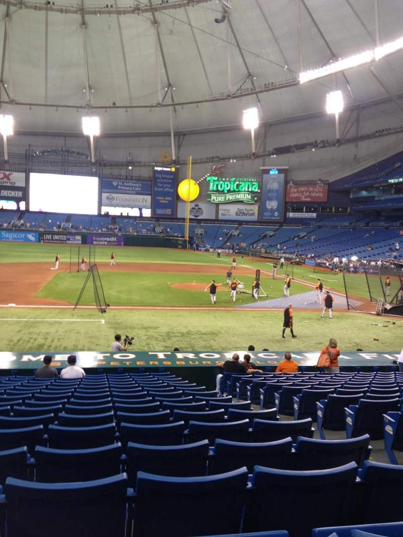 Seating view for Tropicana Field Section 114 Row AA Seat 7