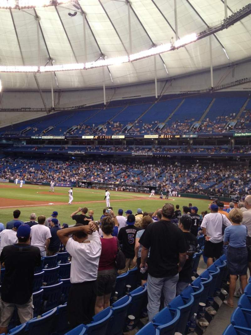 Seating view for Tropicana Field Section 125 Row L Seat 8