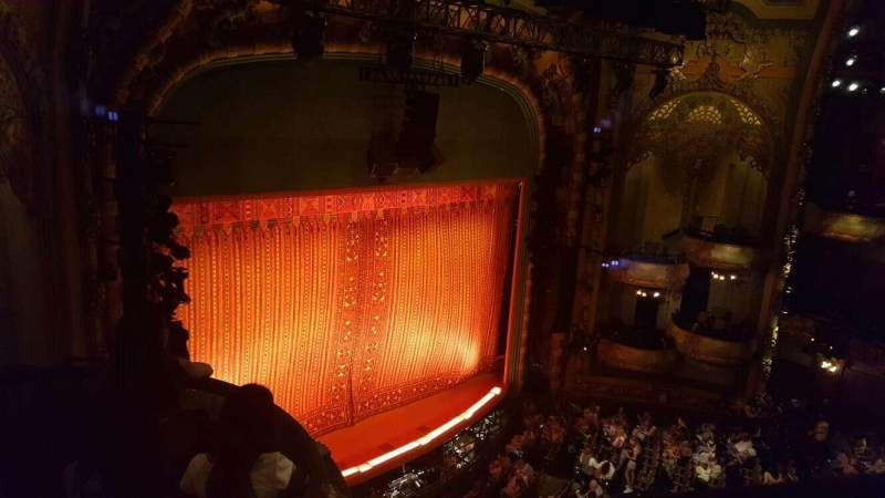 Seating view for New Amsterdam Theatre Section Balcony Left Row a Seat 31