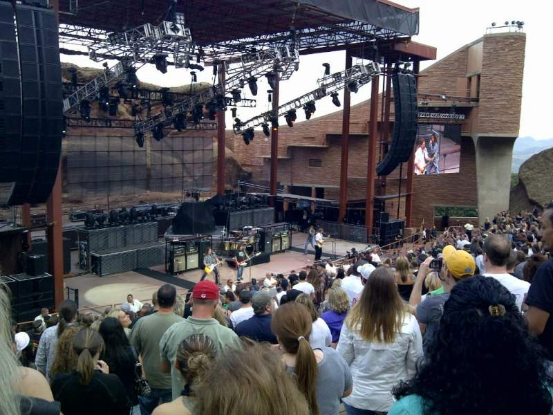Seating view for Red Rocks Amphitheatre Section Reserved Row 14 Seat 104