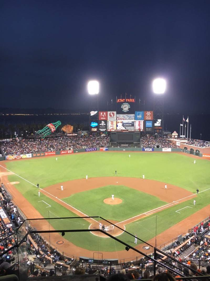 Seating view for AT&T Park Section 314 Row 4 Seat 24