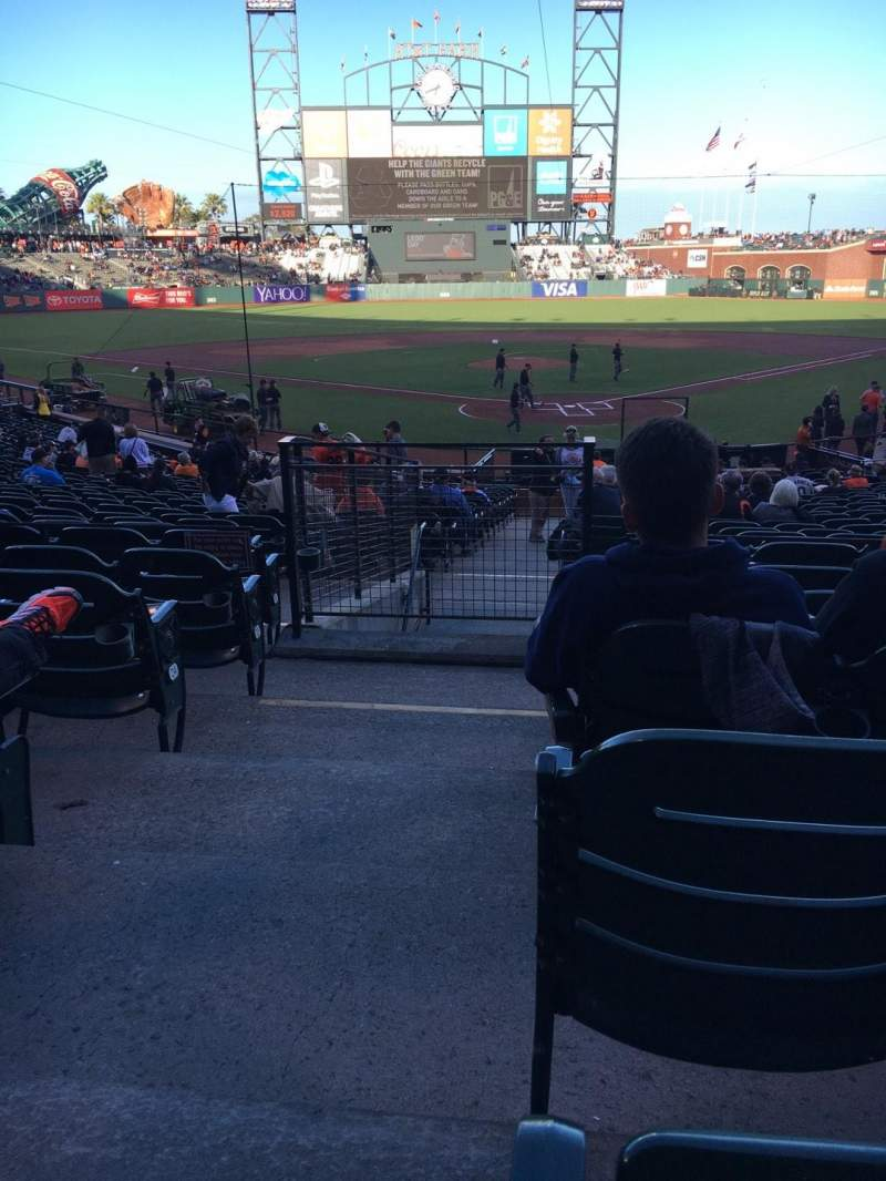 Seating view for AT&T Park Section 116 Row 28 Seat 12