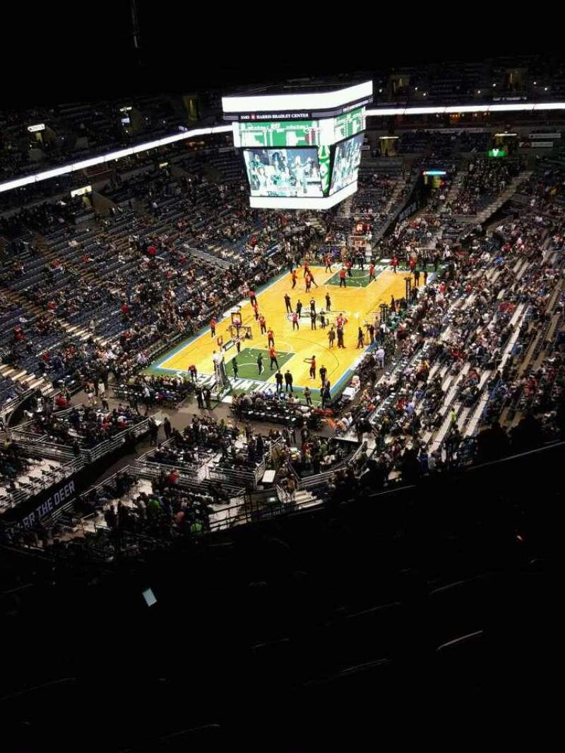 Seating view for BMO Harris Bradley Center Section 408 Row W Seat 5