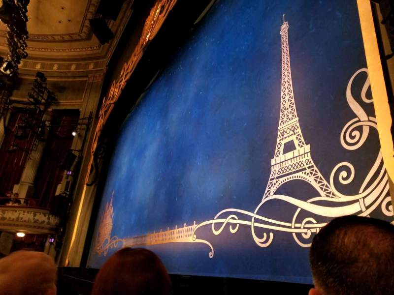 Seating view for Broadhurst Theatre Section Orchestra-Right Row B Seat 12